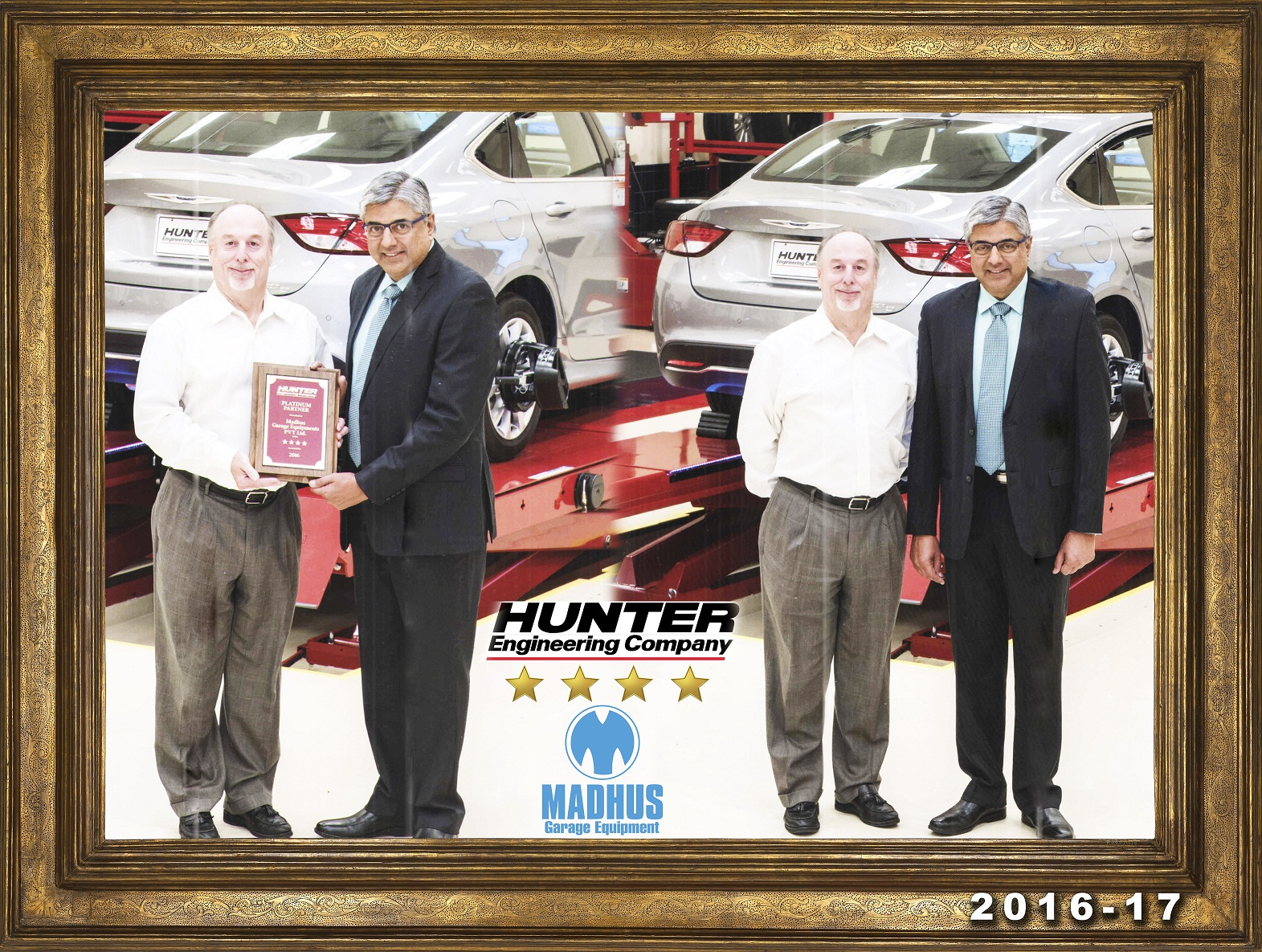 "Madhus Garage Equipment - Hunter Awards  Madhus for best Performance with ""Four Star"""
