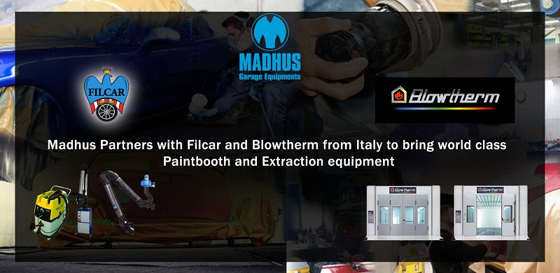 Madhus Partners with Filcar and Blowtherm from Italy to bring world class Extraction and Paint booth